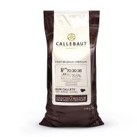 Шоколад Callebaut №70-30-42 бельгийский экстра черный в виде калет 1кг